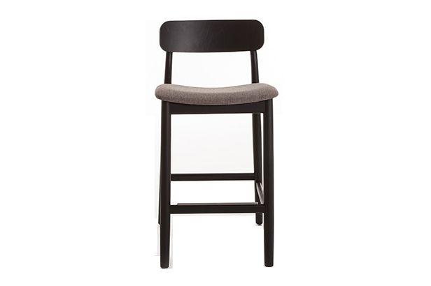 Basic Backrest Barstool Upholstered by Lagranja Collection
