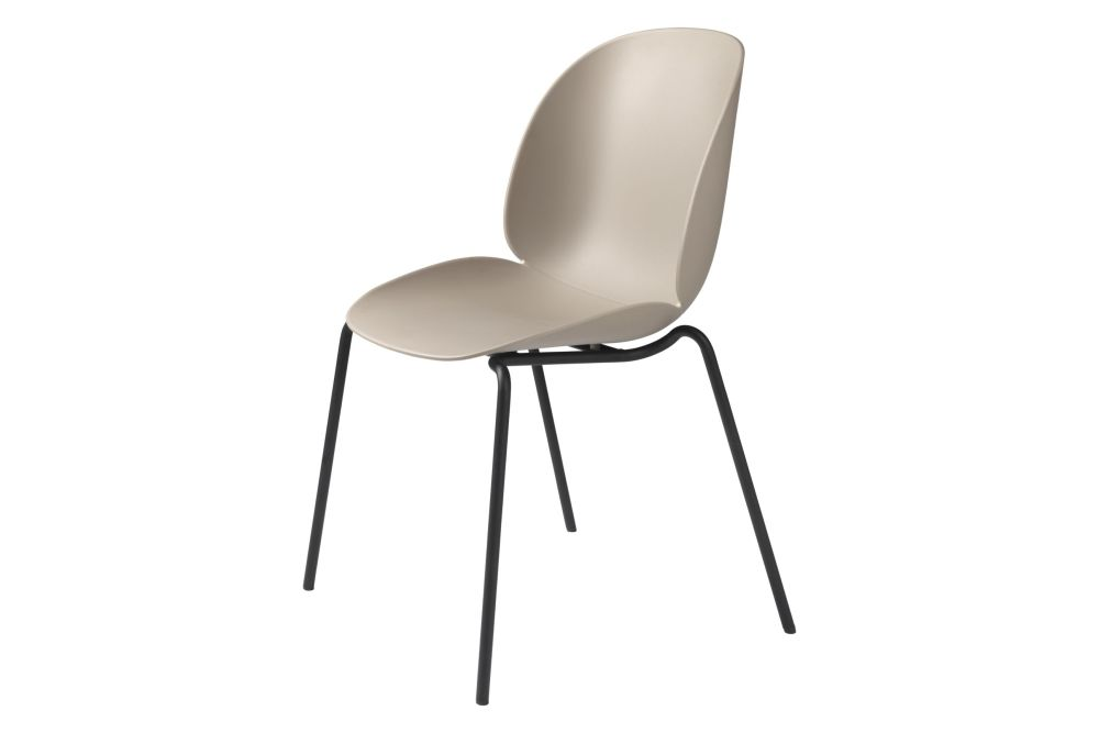 Beetle Un-Upholstered 4-Star Base Dining Chair, Stackable by Gubi