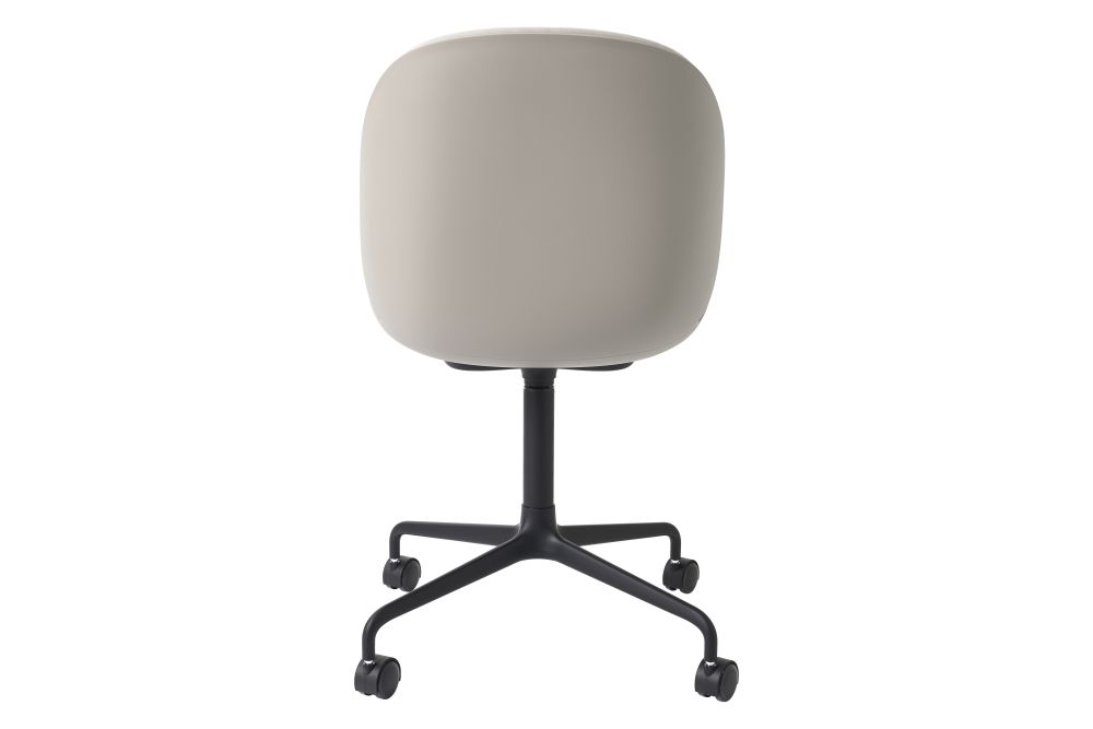 Beetle Meeting Chair - Front Upholstered, 4 - Star with Castors by Gubi