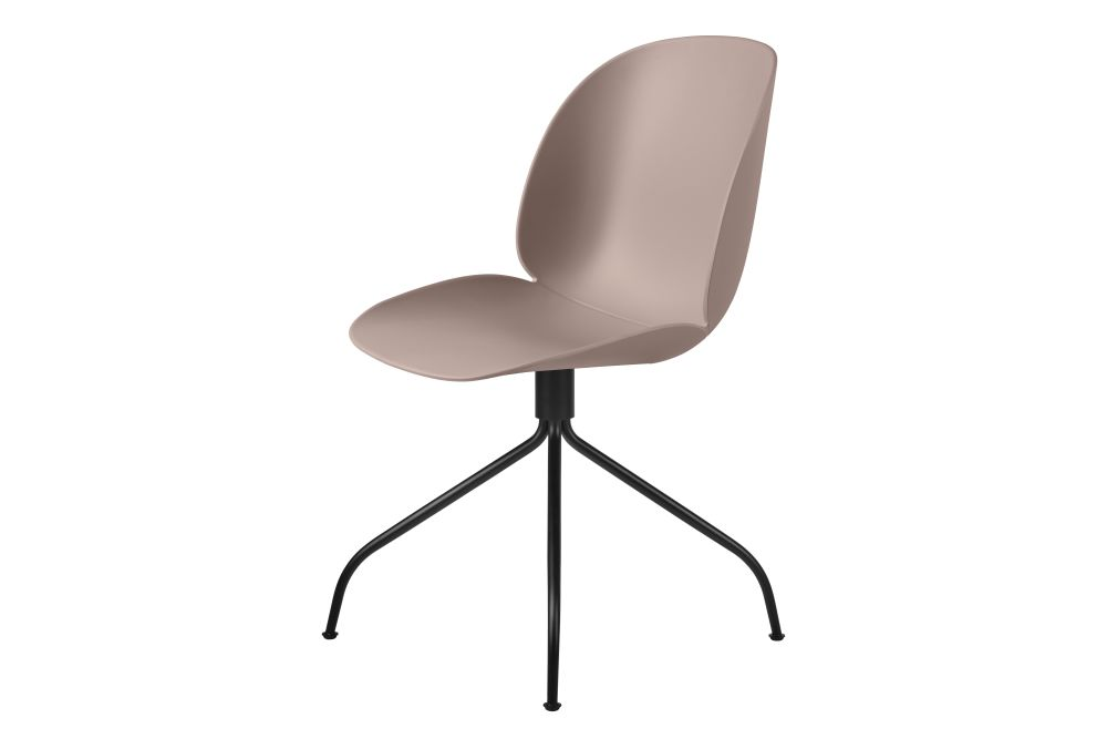 Gubi Metal Matt Black, Plastic Black, Felt Glides,GUBI,Office Chairs,beige,chair,furniture,line,material property
