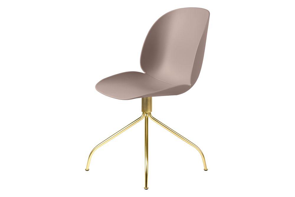 Gubi Metal Matt Black, Plastic Sweet Pink, Plastic Glides,GUBI,Office Chairs,beige,chair,furniture,line,material property