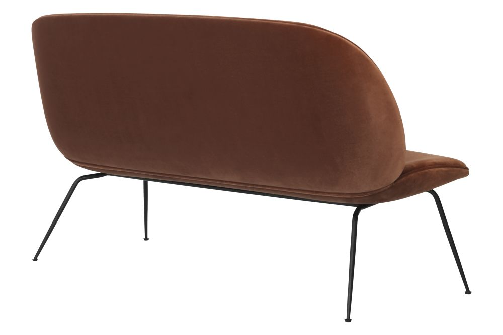 Beetle Sofa - Fully Upholstered, 2 - Seater, Conic Base by Gubi