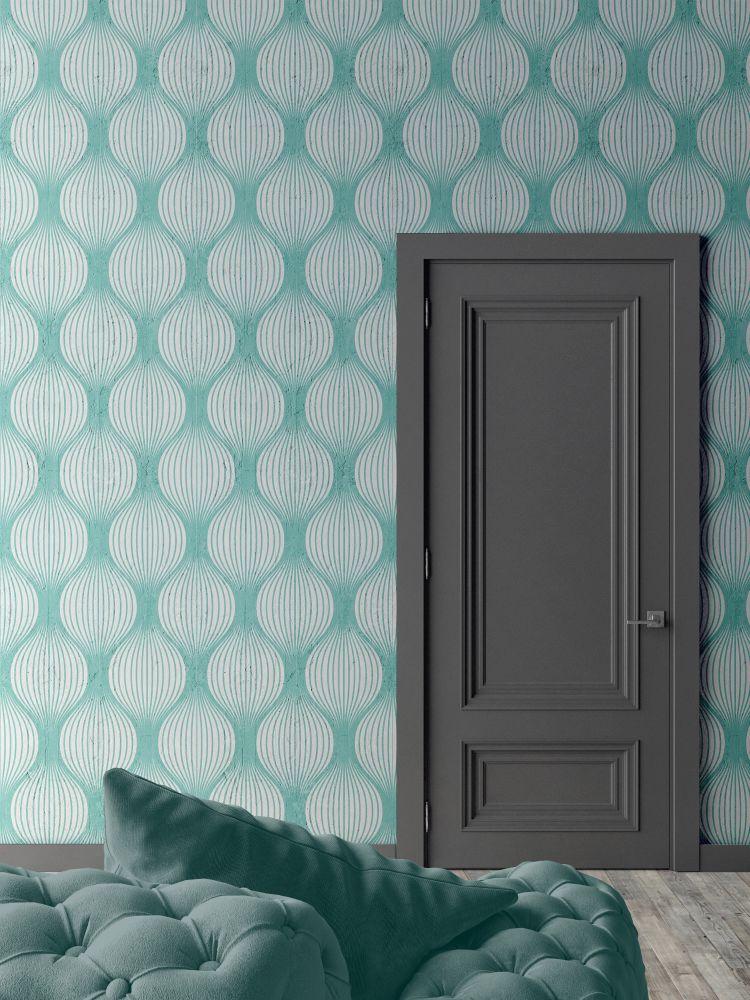Aquamarine Optical Bulbs Wallpaper