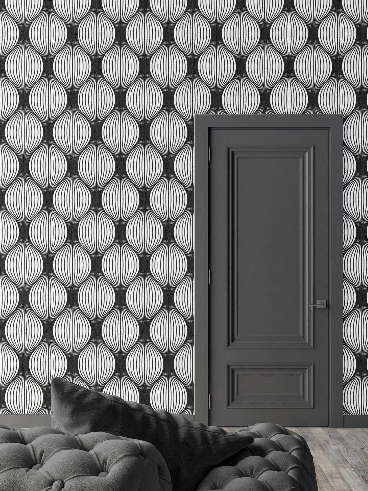 Black Optical Bulbs Wallpaper