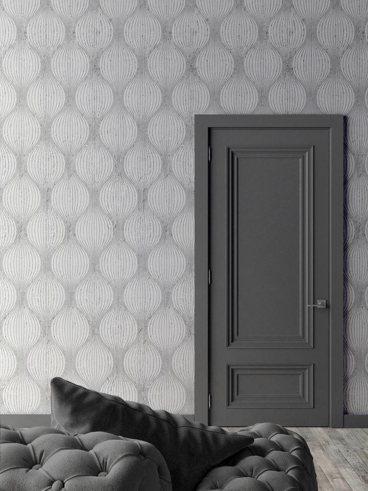 White Optical Bulbs Wallpaper