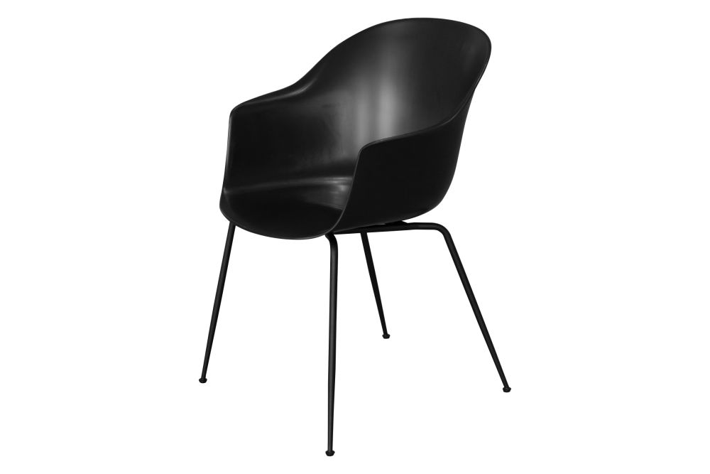Bat Dining Chair - Un-Upholstered, Conic Base by Gubi