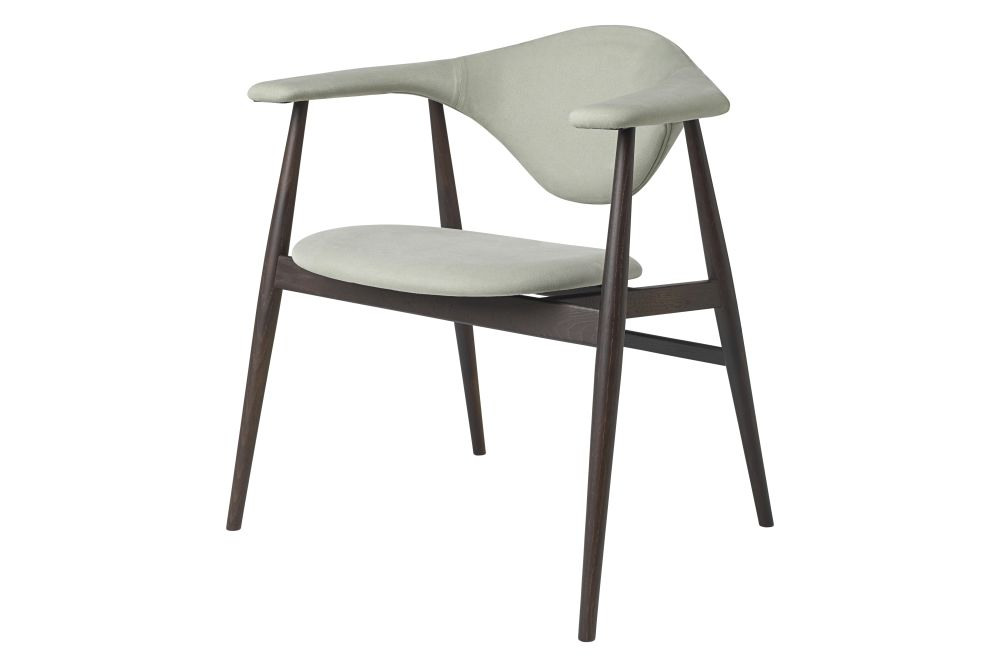 Masculo Dining Chair, Wood Base by GUBI