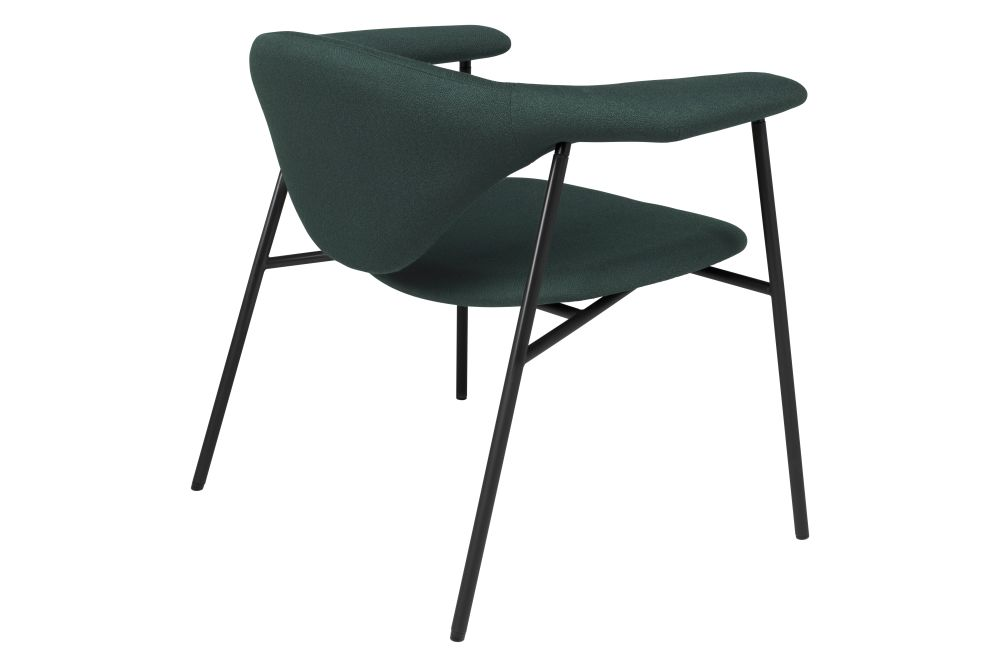 Masculo Lounge Chair, 4 - Leg Base by Gubi