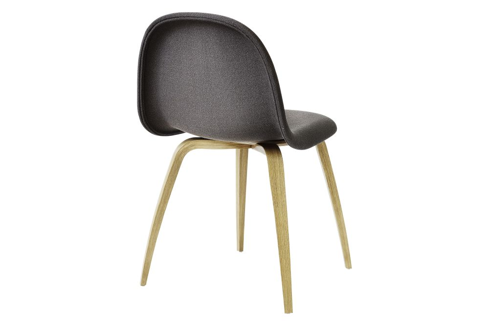 3D Dining Chair - Fully Upholstered, Wood Base by Gubi