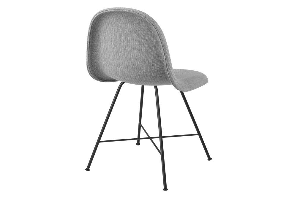 3D Dining Chair - Fully Upholstered, Center Base by Gubi
