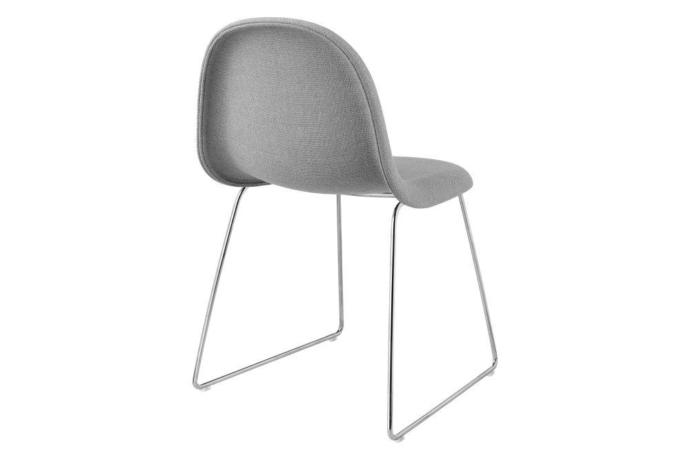 3D Dining Chair - Fully Upholstered, Sledge Base by Gubi