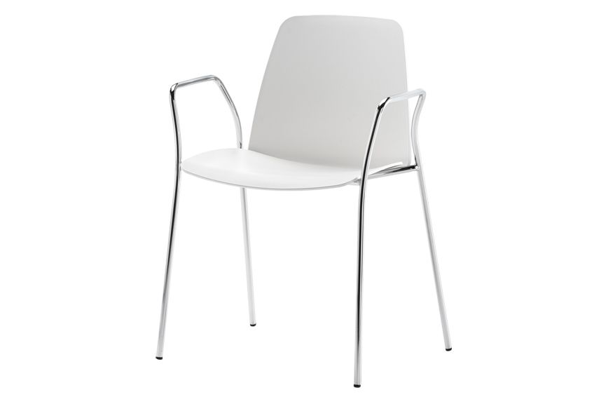 Colour W01-White, Unnia W01, Unnia W01,Inclass,Breakout & Cafe Chairs,chair,furniture,white