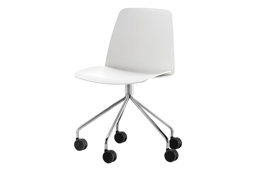 Unnia W01, Chrome,Inclass,Conference Chairs,chair,furniture,line,material property,office chair,product,white