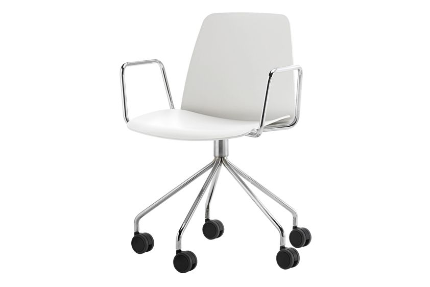 Unnia W01, Colour W01-White,Inclass,Conference Chairs,chair,furniture,line,material property,office chair,product