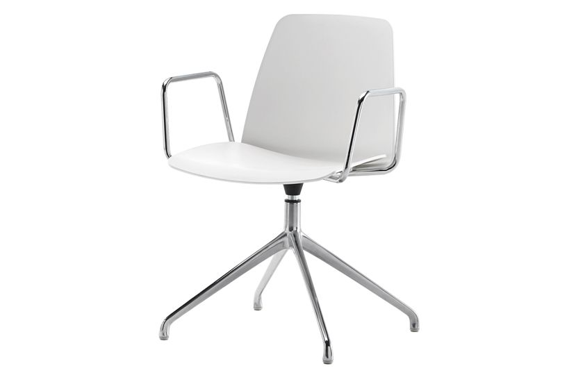 Unnia W01, Colour W01-White,Inclass,Breakout Lounge & Armchairs,chair,furniture,line,material property,office chair,product