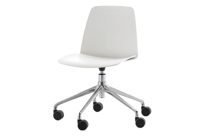 Unnia W01, Colour W01-White,Inclass,Conference Chairs,chair,furniture,line,material property,office chair,product,white