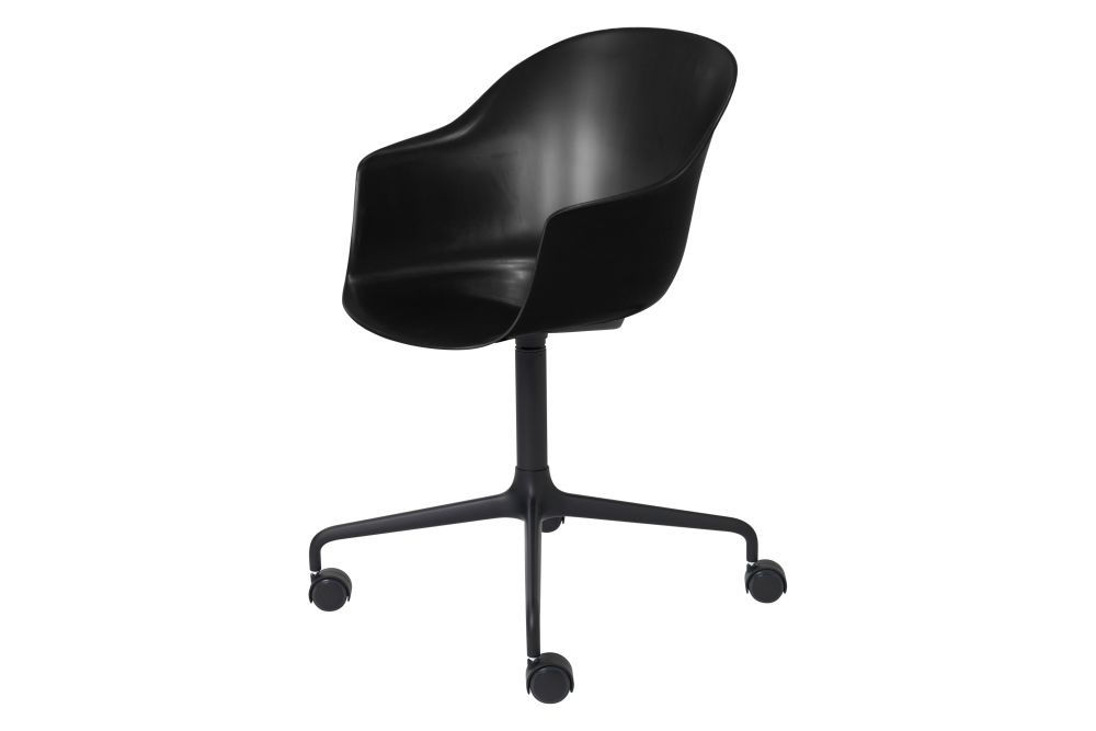 Gubi Metal Black Matt, Plastic Black,GUBI,Office Chairs,chair,furniture,line,office chair