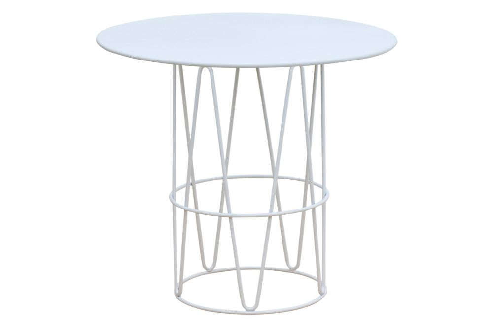 110, RAL 9016 Ibiza White,iSiMAR,Dining Tables,coffee table,end table,furniture,outdoor table,table