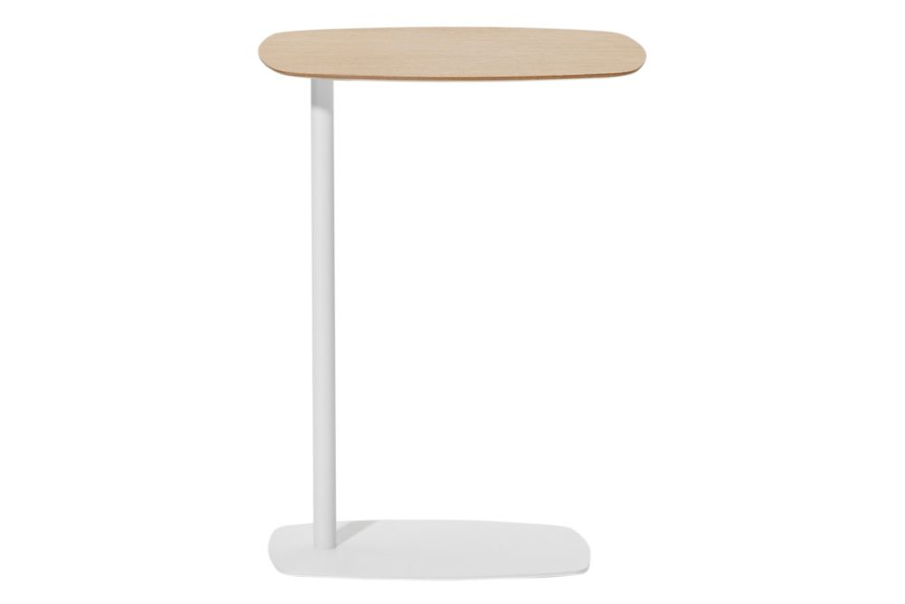 Oak Veneer Natural, Colour W01-White, 42cm,Inclass,Coffee & Side Tables,furniture,lamp,table