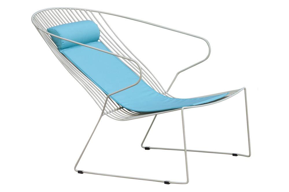 RAL 9016 Ibiza White, Panama 8006 Acqua,iSiMAR,Lounge Chairs,aqua,chair,folding chair,furniture,turquoise