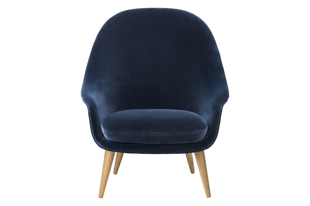 Gubi Wood American Walnut, Price Grp. 01,GUBI,Lounge Chairs,chair,cobalt blue,electric blue,furniture,leather