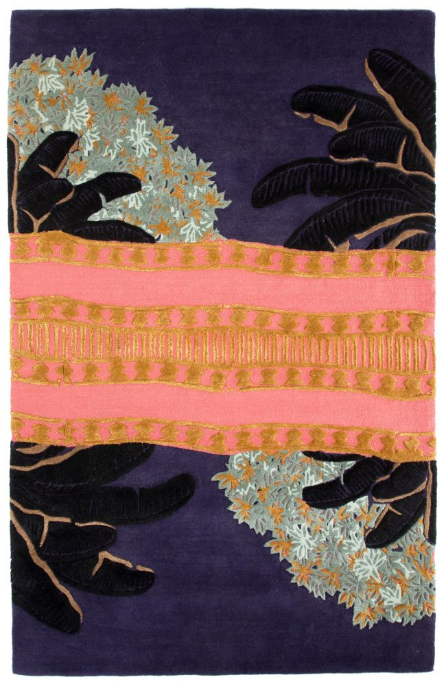 Jade,Jaipur Rugs,Rugs,leaf,pattern,purple,rug,visual arts