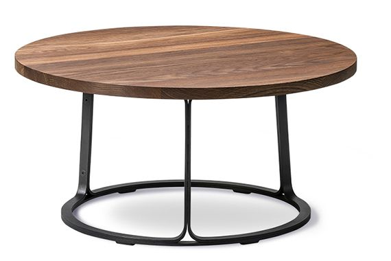 Oak black lacquered, 51.5,Fredericia,Coffee & Side Tables,coffee table,end table,furniture,iron,outdoor table,table