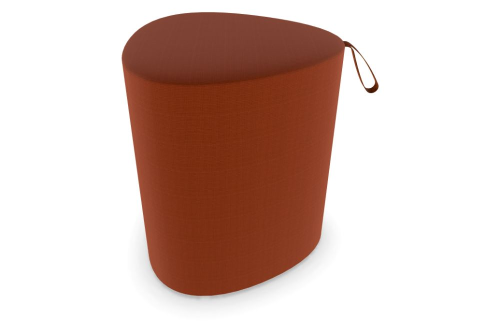 Price Grp. A,Cascando,Breakout Poufs & Ottomans,brown,cylinder,orange