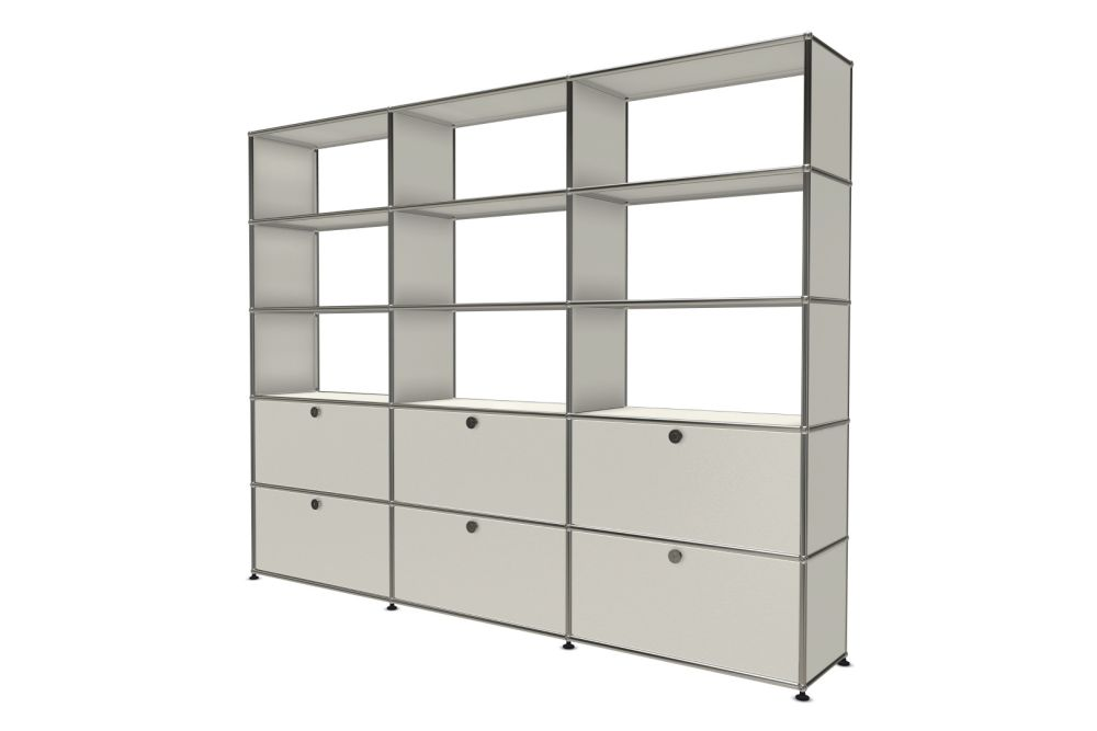 Pure White,USM Modular Furniture,Workplace Cabinets & Shelving,bookcase,cabinetry,furniture,shelf,shelving