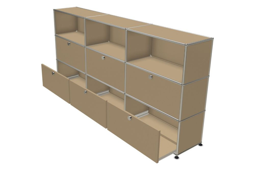 Pure White,USM Modular Furniture,Workplace Sideboards,bookcase,cupboard,furniture,shelf,shelving