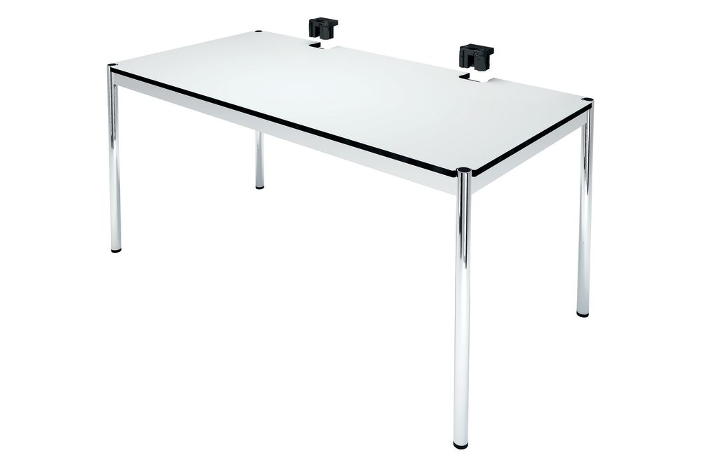 Pure White powder coated MDF,USM Modular Furniture,Fixed Height Desks,desk,end table,furniture,rectangle,table
