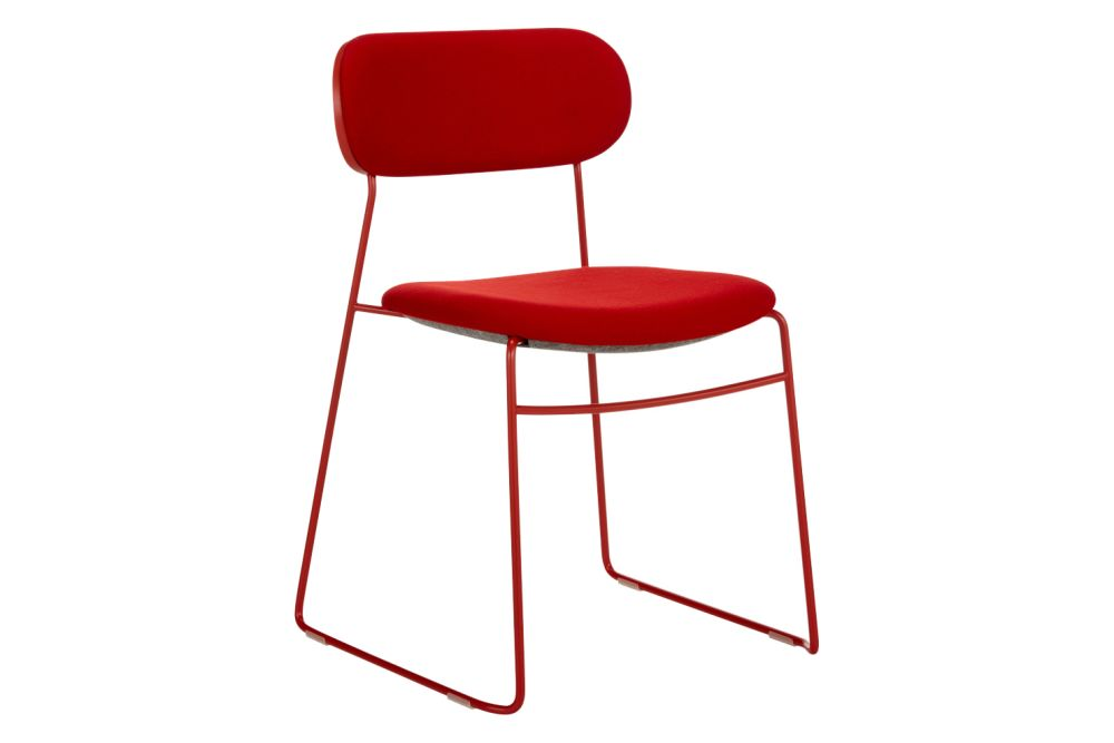 PLC Wire Chair Upholstered Seat Set of 2 by Modus