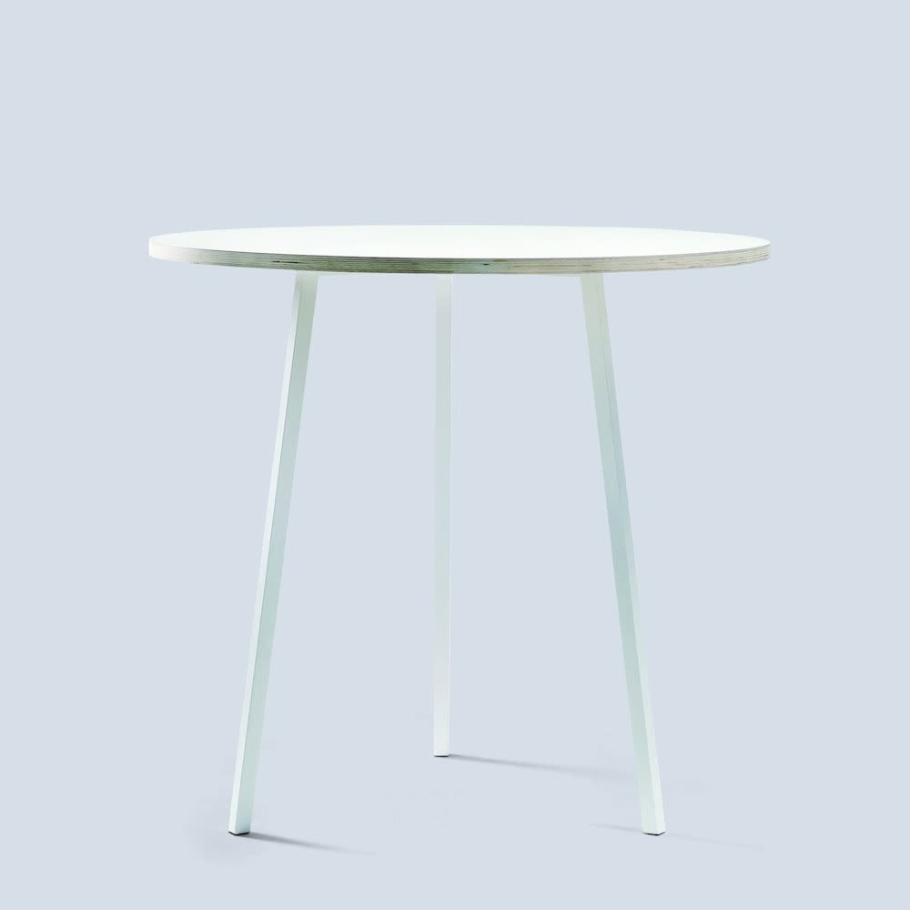 Loop Stand Round High Table by Hay