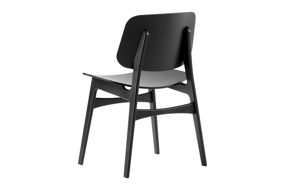 Oak lacquered,Fredericia,Dining Chairs,beige,chair,furniture,plywood,wood