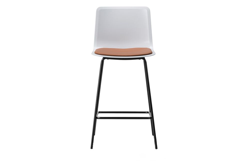 Pato 4 Leg Stool with Seat Upholstery, Bar or Counter Height by Fredericia