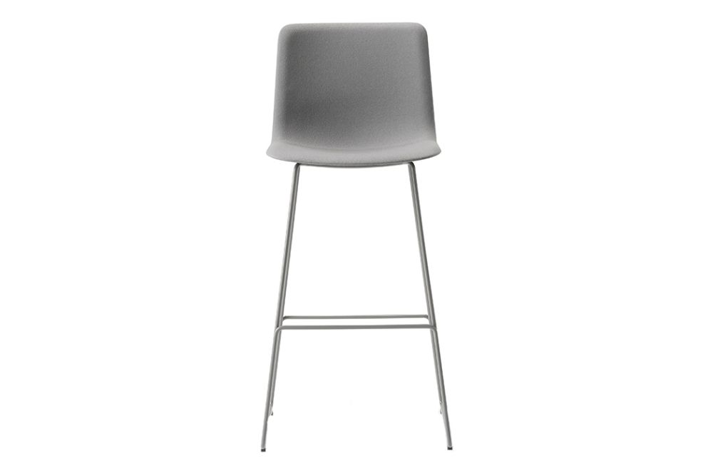 Pato Sledge Barstool Fully Upholstered, Bar or Counter Height by Fredericia