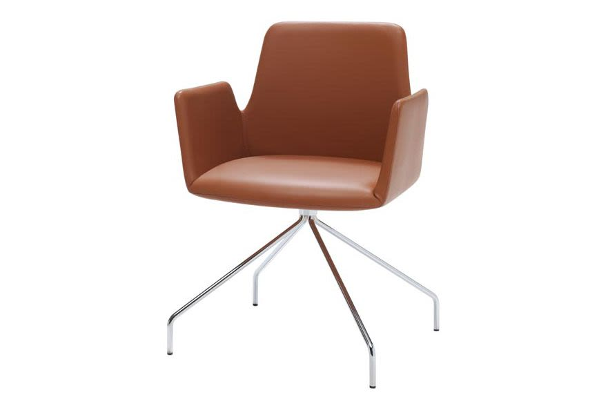 Pricegrp. c11, Chrome,Inclass,Breakout Lounge & Armchairs,armrest,chair,furniture,leather,line,material property,tan,wood