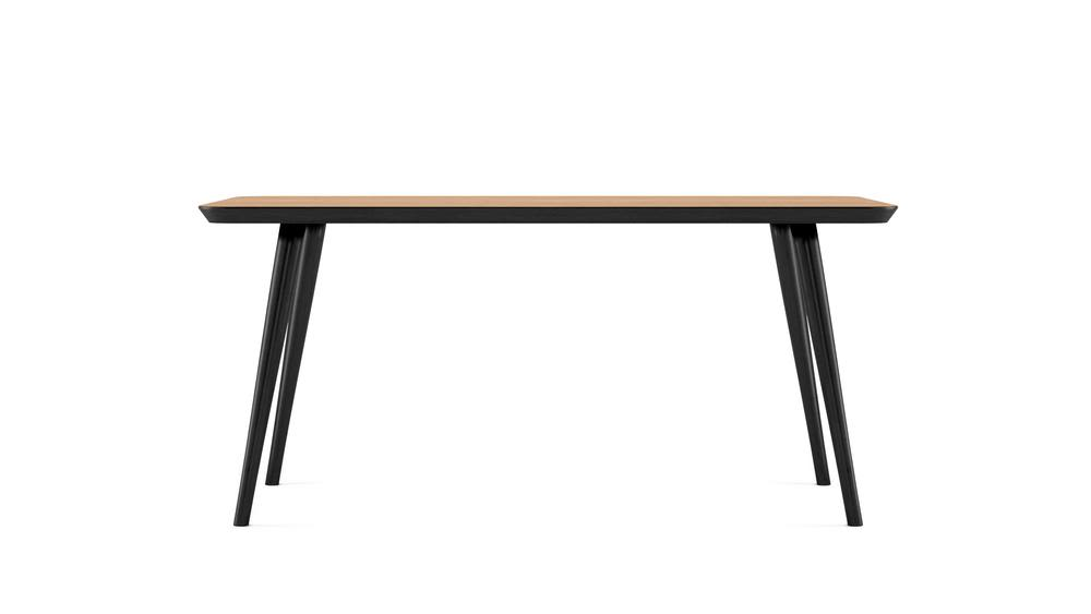 WW DINING TABLE - RECTANGULAR - BLACK - 160x80,Hayche,Dining Tables,coffee table,desk,furniture,line,outdoor table,rectangle,sofa tables,table