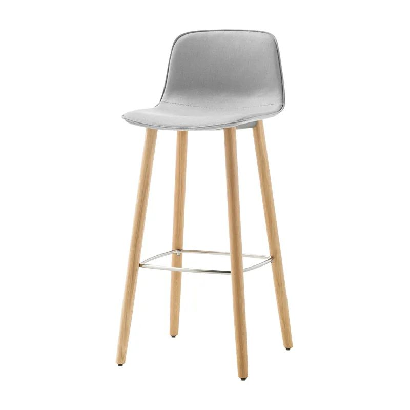 Varya Tapiz 4 Wooden Base Barstool by Inclass