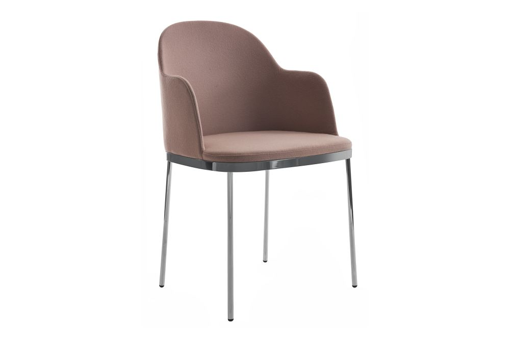 Precious Dining Chair With Armrest by Moroso
