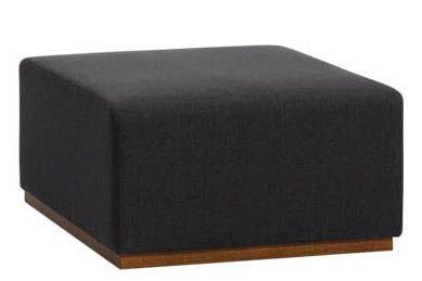 Pricegrp. c1, Beech Veneer Natural, 80 x 80cm,Inclass,Breakout Poufs & Ottomans,black,furniture,ottoman,rectangle