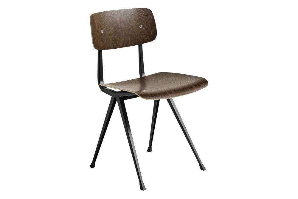 Wood Dark Brick Oak / Metal Black,Hay,Dining Chairs,chair,furniture
