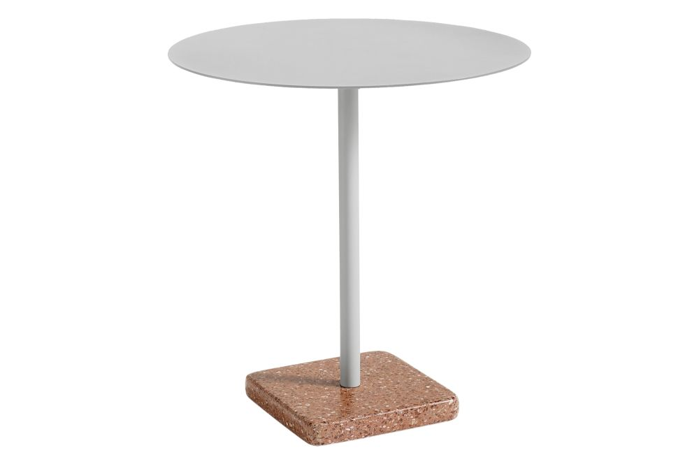 Metal Sky Grey / Terrazzo Red,Hay,Dining Tables,end table,furniture,outdoor table,table