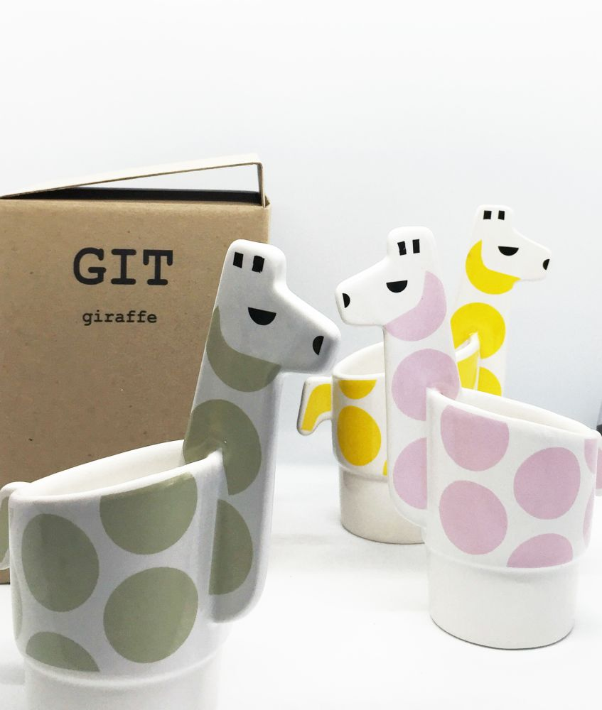 GIT pink,Camilla Engdahl,Decorative Accessories,cup,drinkware,egg cup,giraffe,mug,tableware