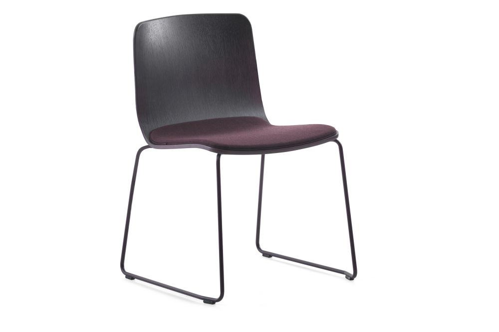 Robbie-09-46-Half Covered Chair Sled Base - Set of 2 by Johanson