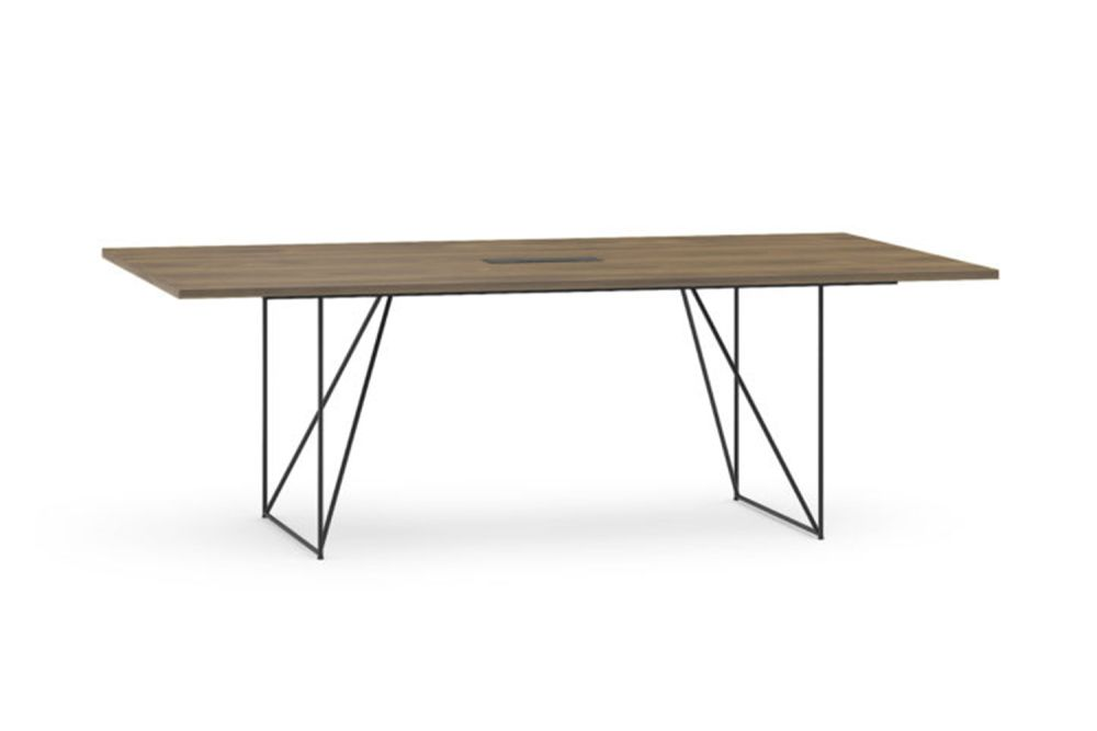 D2 Amber Oak, E White Metal,Narbutas,Co-working Benches,desk,furniture,outdoor table,rectangle,table