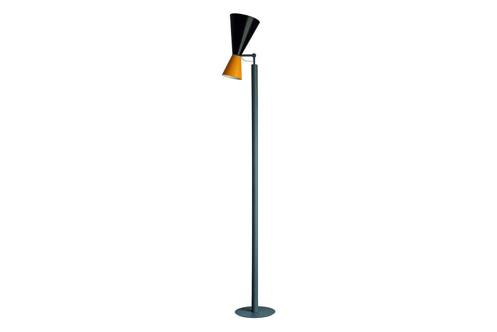 Black RAL9005 / Yellow RAL 1033,Nemo Lighting,Floor Lamps,light fixture