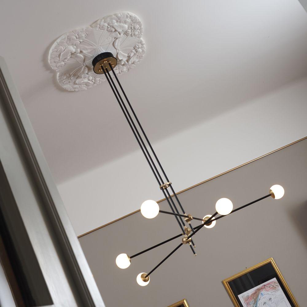 Bullarum SI-6-420-BL/BB,Intueri Light,Chandeliers,ceiling,ceiling fixture,chandelier,light,light fixture,lighting,lighting accessory