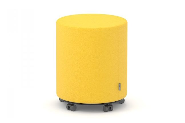 Giro Pouf with Castors by Narbutas