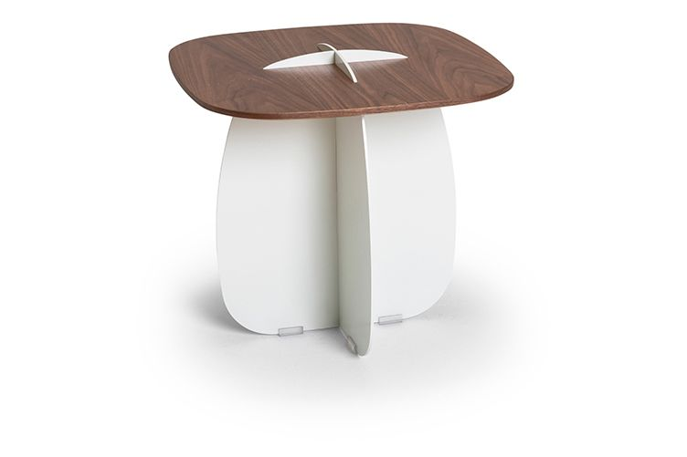 Iron White, Walnut, 45cm,Lagranja Collection,Coffee & Side Tables,coffee table,furniture,stool,table